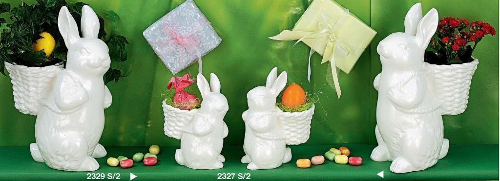 Кролик декоративный белый с рюкзаком