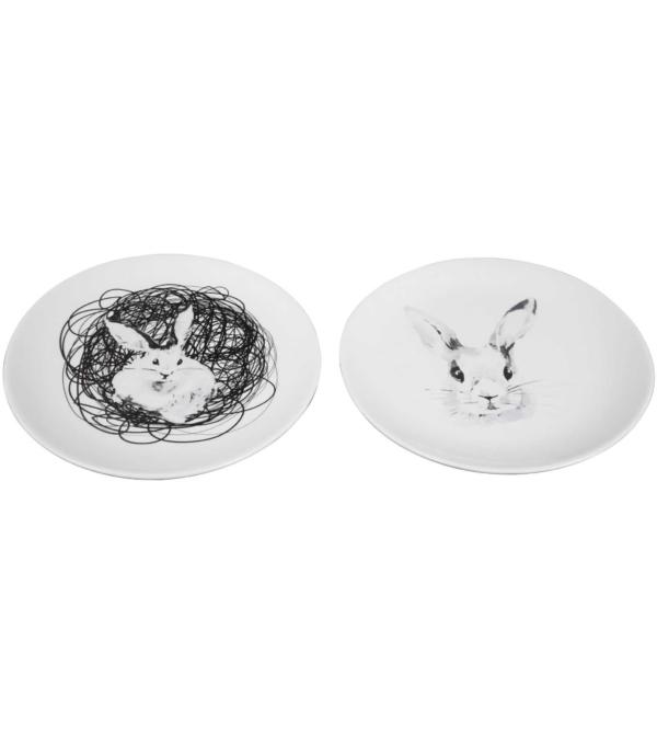 Набор десертных тарелок Пасхальный кролик 2 шт.