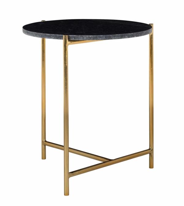 Столик для кофе Paige мраморный черный