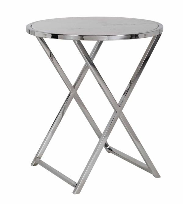 Столик для кофе Jaimy мраморный белый