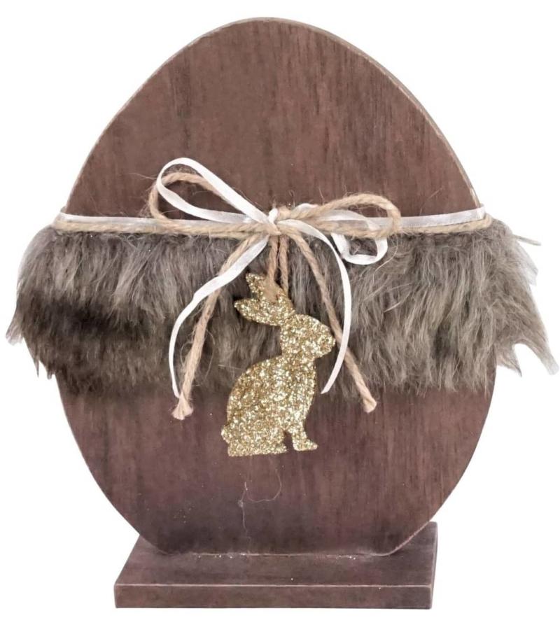 Декоративное яйцо с кроликом маленькое
