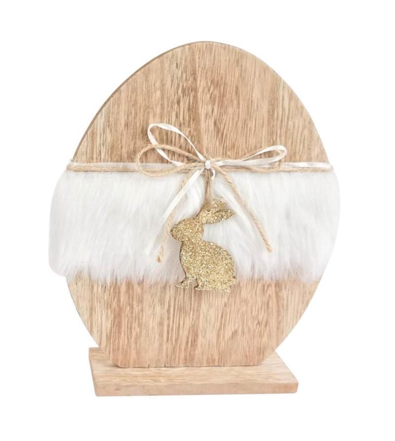 Декоративное яйцо с кроликом большое