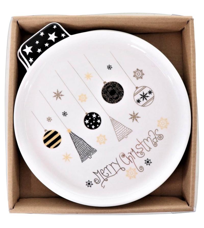 Подарочный набор тарелок 2 шт XMAS