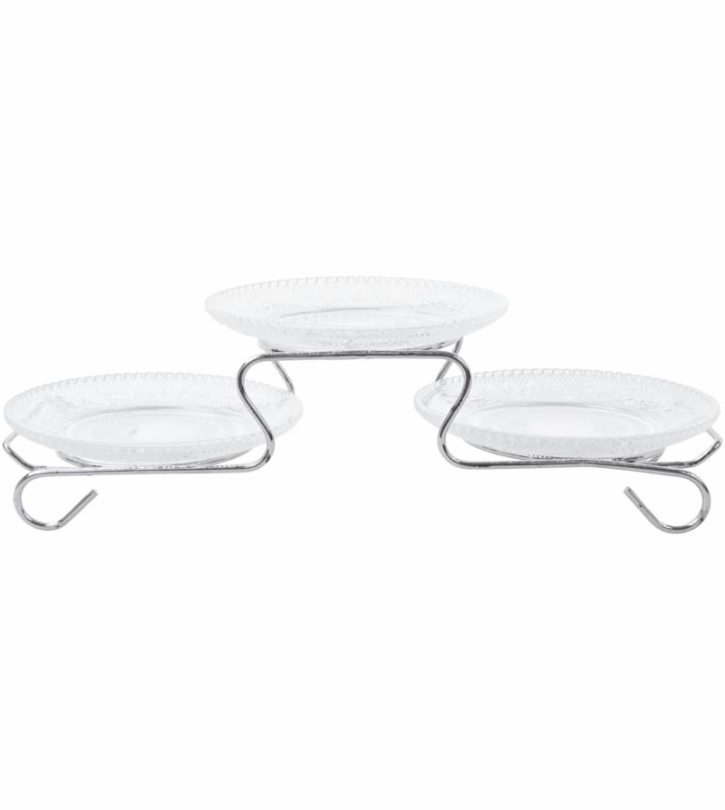 Набор тарелок для закусок 3 шт.