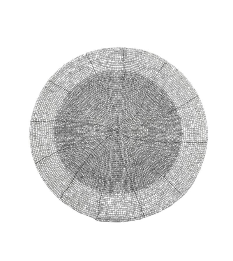 Сет Koopman из бисера серебряный 20 см