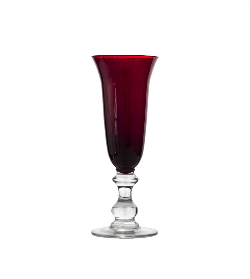 Бокал для шампанского Кириа, красный 180мл
