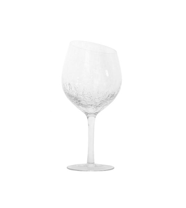 Бокал для вина с эффектом битого стекла