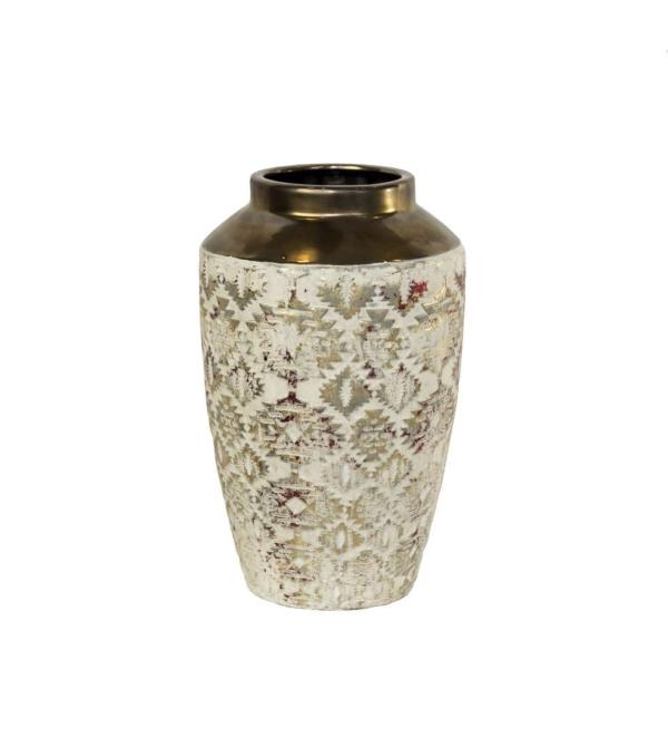 Ваза керамическая золотая