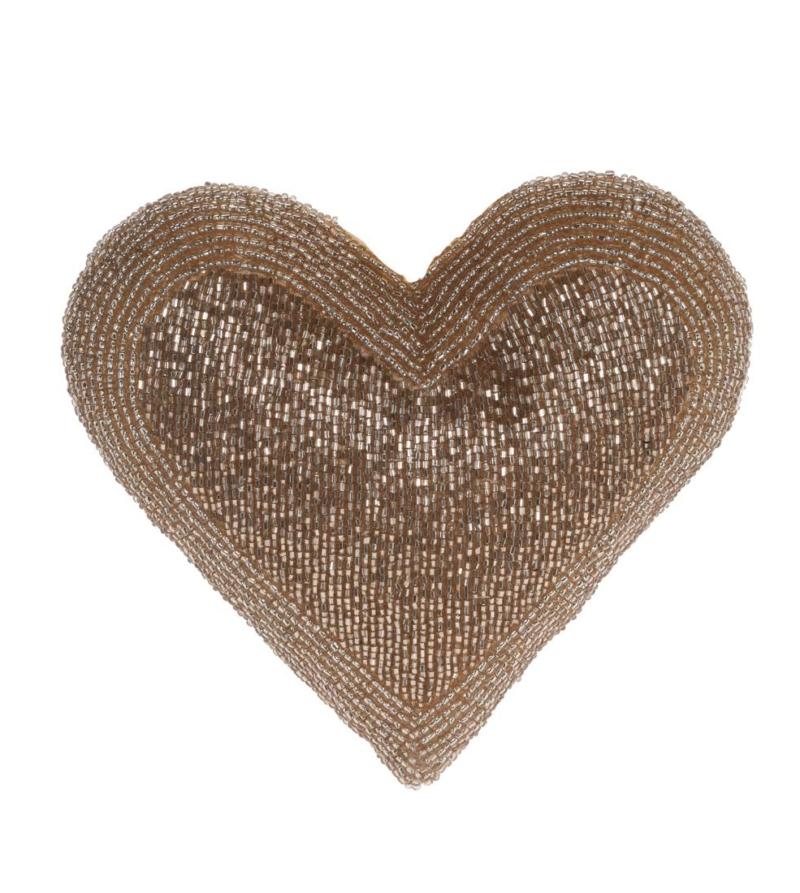 Подвесная декорация в форме сердца, золото 18см