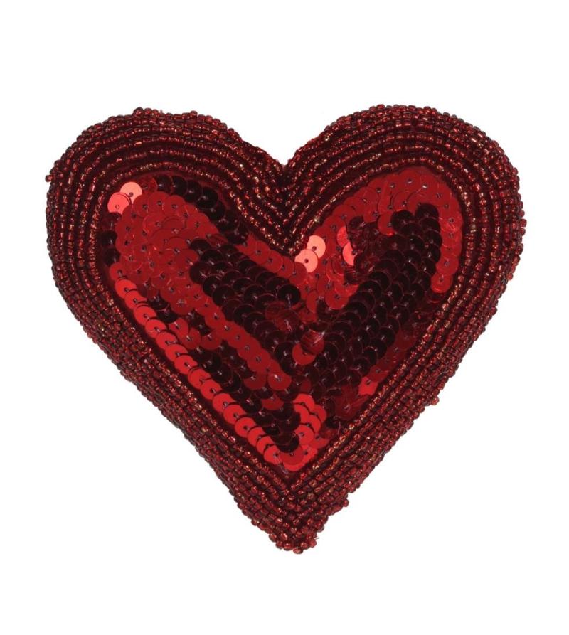 Подвесная декорация в форме сердца, красная 13см