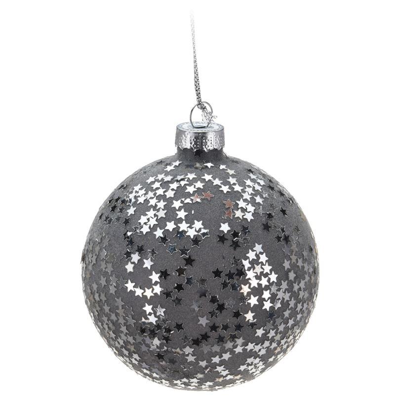 Новогоднее елочное украшение - шарик, 80 мм