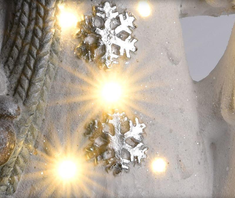 Декоративная новогодняя фигура с LED подсветкой
