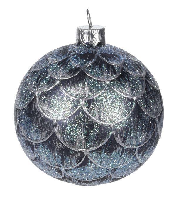 Новогоднее елочное украшение - шарик, 100 мм