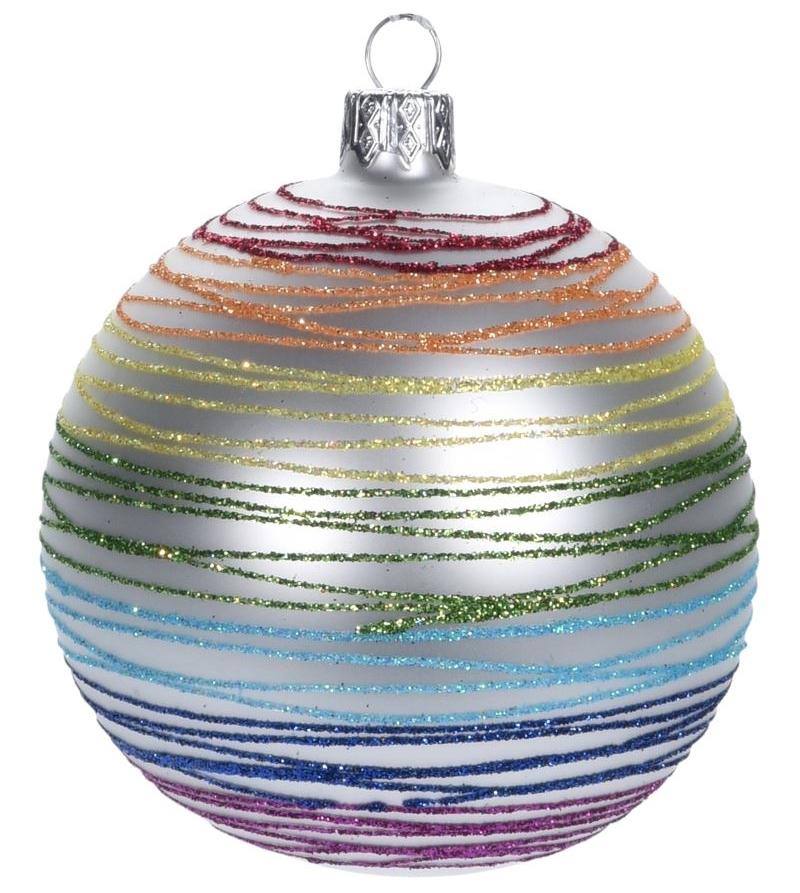 Новогоднее елочное украшение - шарик, 60 мм