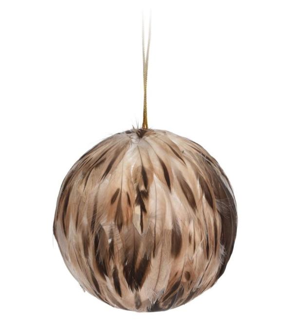 Новогоднее декоративное подвесное украшение, шарик 10см