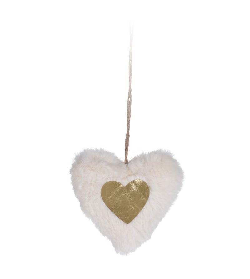 Подвесная декорация в форме сердца и звезды, 12см