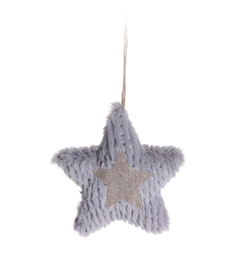 Подвесная декорация в форме сердца и звезды, 17см